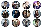 "Set of 12 Doctor Who 1.25"" Badge Pinback Buttons"