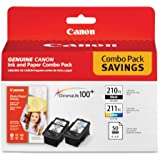 Canon PG-210 XL and CL-211 XL Ink plus 50 Sheet 4 x 6 Paper Combo Pack