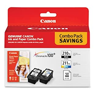 Canon PG-210 XL and CL-211 XL Ink and Glossy Photo Paper Combo Pack, Compatible to MP495,MP280,MP490,MP480,MP270,MP240, MX420,MX410,MX350,MX340 and MX330 (B001CSPUF4) | Amazon Products