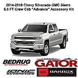 running board carpet - Gator 2014-2018 Chevy Silverado GMC Sierra 5.8 FT Crew Cab Accessory Advance Kit (Hard Folding Tonneau Cover, 5