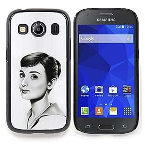 "Qstar Arte & diseño plástico duro Fundas Cover Cubre Hard Case Cover para Samsung Galaxy Ace Style LTE/ G357 (Hepburn - Hermosa Dibujo"")"