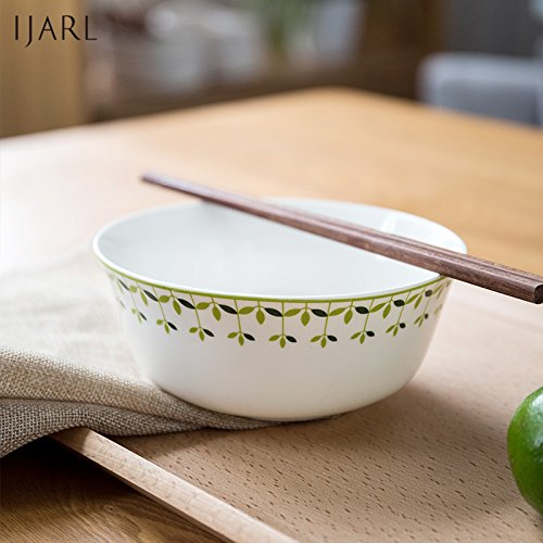 LDYMY The ceramic bowl cutlery m rice bowl home instant noodles bowl rice-bowls, D. Yellow
