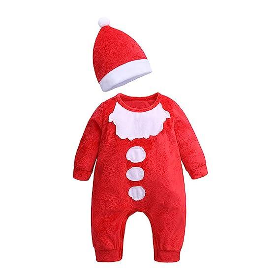 Amlaiworld Ropa de Navidad Bebe Recién Nacido Conjunto de Trajes de Navidad para bebés recién Nacidos bebé niño niña Mullido Mameluco Monos Romper Peleles: ...