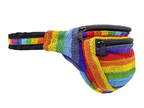 Hüfttasche bunt gestreift - Baumwolle