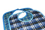 Adult Bib Large Extra Long, Reusable Washable Clothing Spill, Mealtime Protector, Waterproof Ladies & Men (Pk/2)