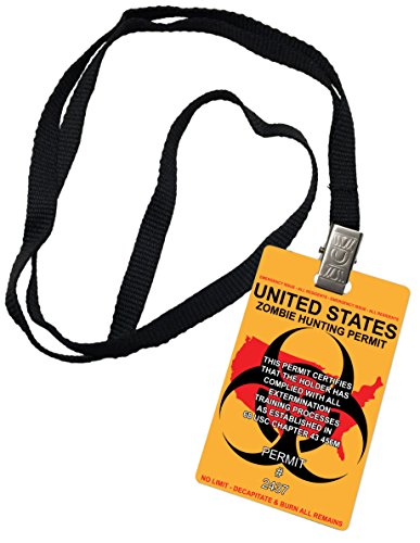 Zombie Hunter Novelty ID Badge Prop Costume No Limit United States