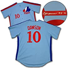 Andre Dawson Montreal Expos Autographed Retro Baseball Jersey with ROY 77 Note