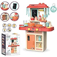 Fashion2wear 36-Piece Kitchen Set, Music,Real Water Tap, Actually Feel of Kitchen for Your Kids Don,t Miss It