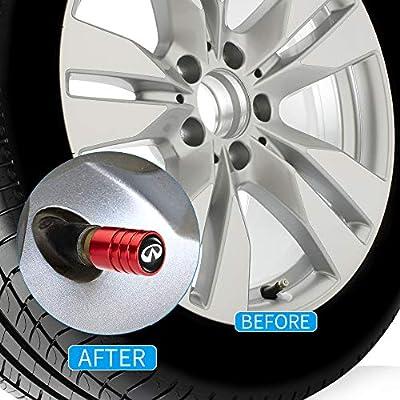 PATWAY 4 Pcs Metal Car Wheel Tire Valve Stem Caps for Infiniti Q50 FX35 FX37 F50 QX70 QX60 EX35 Logo Styling Decoration Accessories.: Automotive