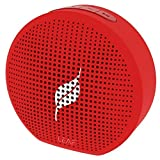 Leaf Pop- Portable Wireless Bluetooth Speaker with Mic, Loud and Clear Audio, SD card reader, Aux, FM Radio and PHONE STAND (Ferrari Red)