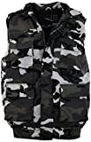 ChoiceApparel Mens Basic Padded Windbreaker Puffer Vests (Many Styles to Choose from) (L, 1322-Whitecamo)