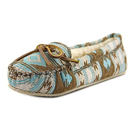 Minnetonka Women's Baja Moccasin Slippers Turquoise