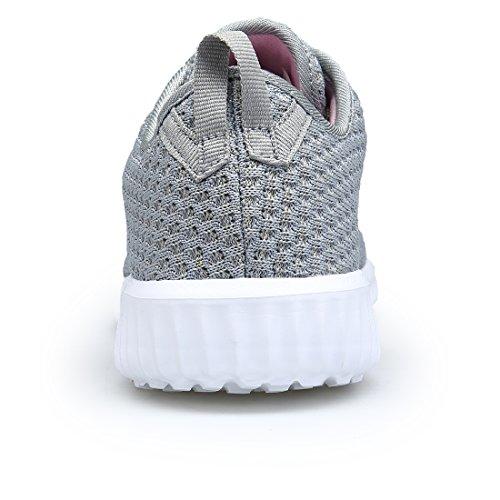 DOMOGO Leichte Schuhe Damen Sneakers Casual Sportschuhe Grau