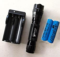 MECO(TM) WF501B Cree T6 LED Flashlight Toch Light 18650 Battery Charger Kit by Spring Digi Center