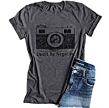 KimSoong Don't Be Negative Camera Shirt Funny Vintage Photographer Short Sleeve T-Shirt (Small)