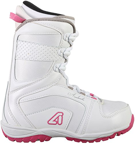 Avalanche Eclipse Womens Snowboard Boots Size 9 White/Pink - New