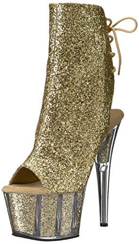 gold Botas Pleaseradore Gold Glitter Mujer Glitter RArrnxI