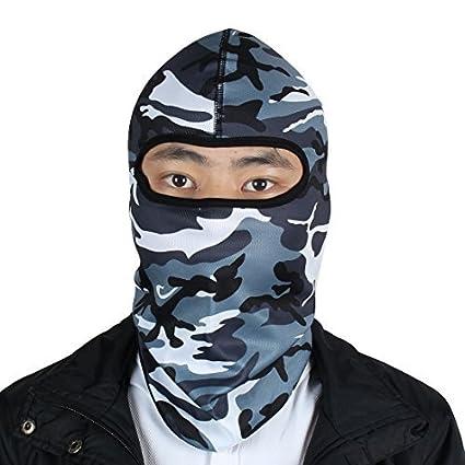 eDealMax al aire Libre Unisex Lycra camuflaje Caza del Cuello de la mascarilla Camo cubierta de