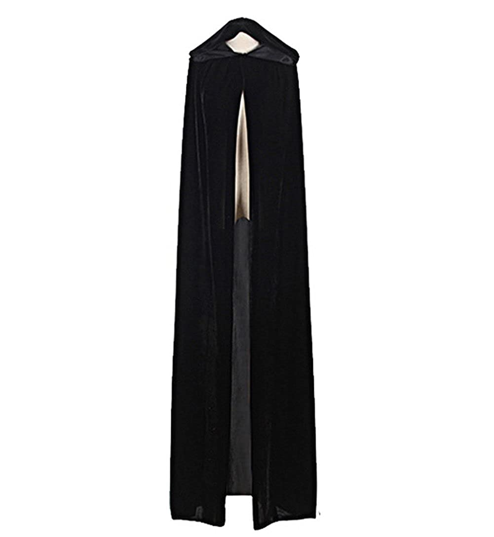 JIANLANPTT Halloween Hooded Cloaks Capes Cosplay Costumes Solid Colors