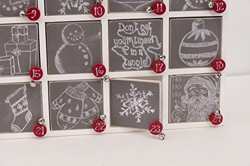 Primitives by Kathy 23700 Christmas Chalk Art Wood Countdown Box by Primitives by Kathy (Image #2)