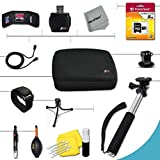 Xtech Essential 15 piece Accessory Kit for GoPro HERO4 Hero 4, GoPro Hero3+, GoPro Hero3, GoPro Hero2, GoPro HD Motorsports HERO, GoPro Surf Hero, GoPro Hero Naked, GoPro Hero 960, GoPro Hero HD 1080p, GoPro Hero2 Outdoor Edition Digital Cameras Includes a Hand Held Monopod with a GoPro tripod mount + 8GB High Speed Memory Card + Well Padded Camera Case + Gold plated HDMI Cable + Remote Wrist Strap + Universal Card Reader + Mini Table Tripod + Ultra Fine HeroFiber Cleaning Cloth