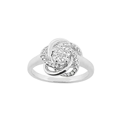 d0feb4035776a6 Cate & Chloe Stella 18k White Gold Plated CZ Engagement Ring, Sparkling  Unique Ring for Women, Wedding Anniversary Fashion Statement Jewelry, ...