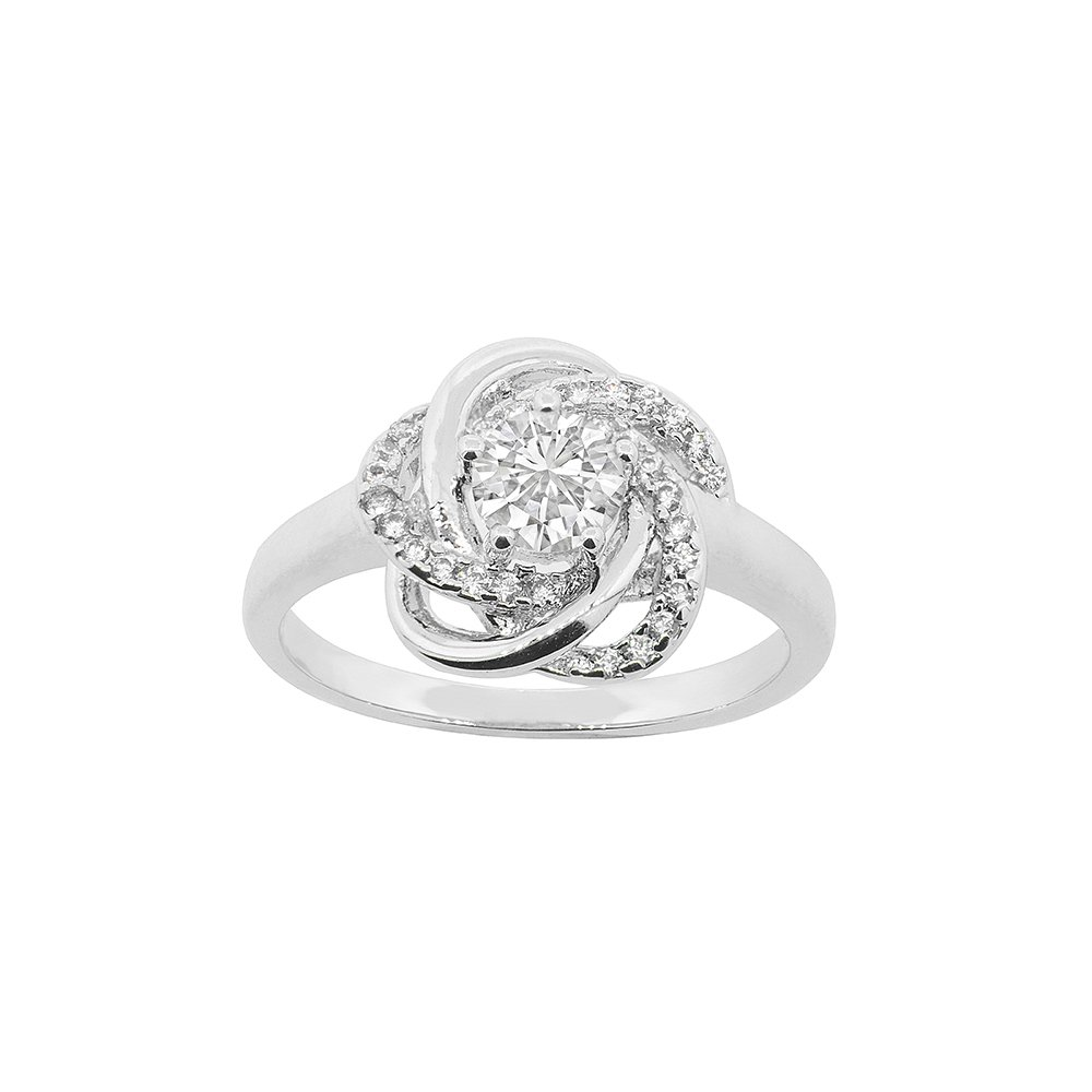 Cate & Chloe Stella Cosmic 18k White Gold Plated Ring, Silver Ring, Best Ring for Women, Teens, Girls, Engagement Ring, Wedding Ring, Bridal Jewelry, Promise Ring (7) - msrp $150