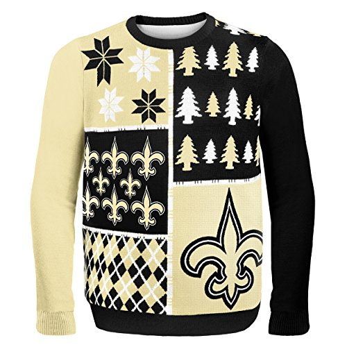 New Orleans Saints Busy Block Ugly Sweater Double Extra Large