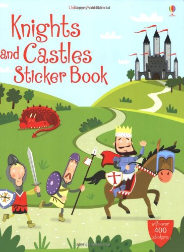 Knights and Castles Sticker Book (Usborne Sticker Books)