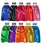 Baby Song 10 Different Superheros Cape and Mask for Kids Dress Up & Pretend Play Superhero Cape Costumes Set 10 PCS 10SJD
