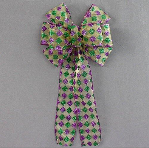 Mardi Gras Bow (Harlequin Sparkle Mardi Gras Bow - 8