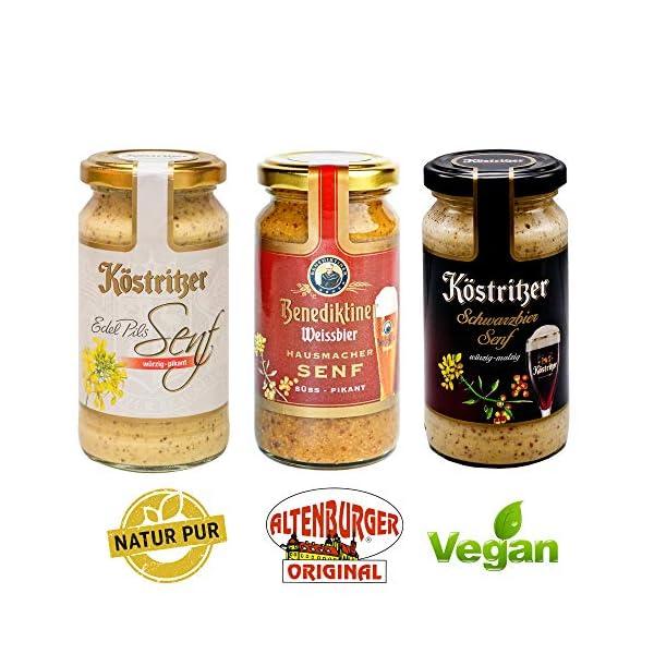 51k83DkUKmL Altenburger Original Bierkiste - drei mit Bier verfeinerte Senfsorten als Geschenk-Set (3-teilig), Geschenkbox für…