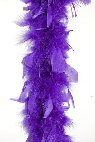 6' 40g Adult Feather Boa, Purple (International Dress Up Ideas)