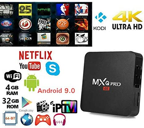 ZHONG OU Smart TV Box MXQ Pro 4K Penta Core Android 7.1.2 4GB RAM 32GB ROM IPTV +TELECOMANDO: Amazon.es: Electrónica