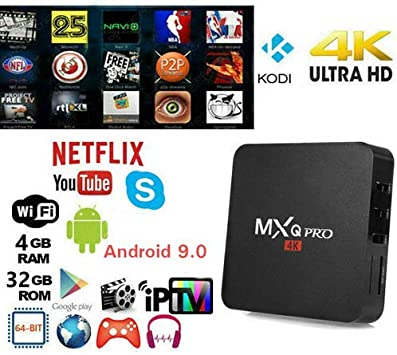 ZHONG OU Smart TV Box MXQ Pro 4K Penta Core Android 7.1.2 4GB RAM 32GB ROM IPTV +TELECOMANDO: Amazon.es: Electrónica