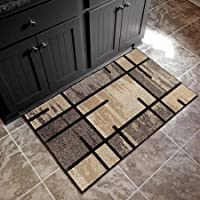 Better Homes and Gardens Spice Grid Area Rug, 18x210, Black
