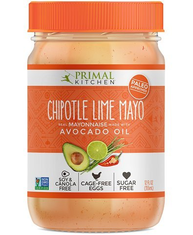 Primal Kitchen Avocado Oil Mayonnaise Chipotle Lime, 12 Ounce (355 ML), Paleo, (Organic Chipotle)