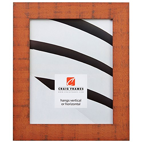 Craig Frames 150009 8 by 10-Inch Picture Frame, Solid Wood, Rustic Finish, 1.5-Inch Wide, Orange