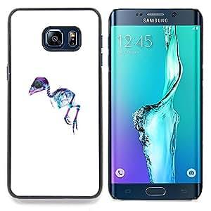 - X Ray Emu Bird - - Cubierta del caso de impacto con el patr??n Art Designs FOR Samsung Galaxy S6 Edge Plus Queen Pattern