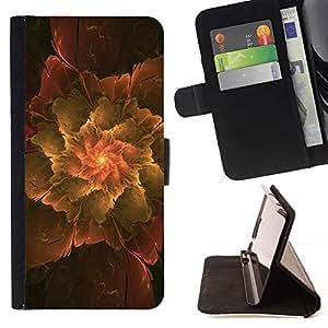 Momo Phone Case / Flip Funda de Cuero Case Cover - Extracto de la hoja - Samsung Galaxy J1 J100