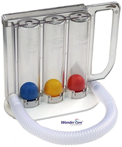 Wonder Care Deep Breathing Lung Exerciser | Washable & Hygienic | Breath Measurement System | with Handle (Best Breathing Exercise For Lungs)