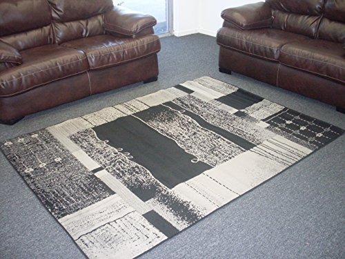 Metro 9318 Area Rug Carpet Contemporary Modern Abstract (5x7, 874 Grey)
