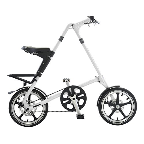 Strida LT Folding Bicycle, folds to 45x20x9″, White