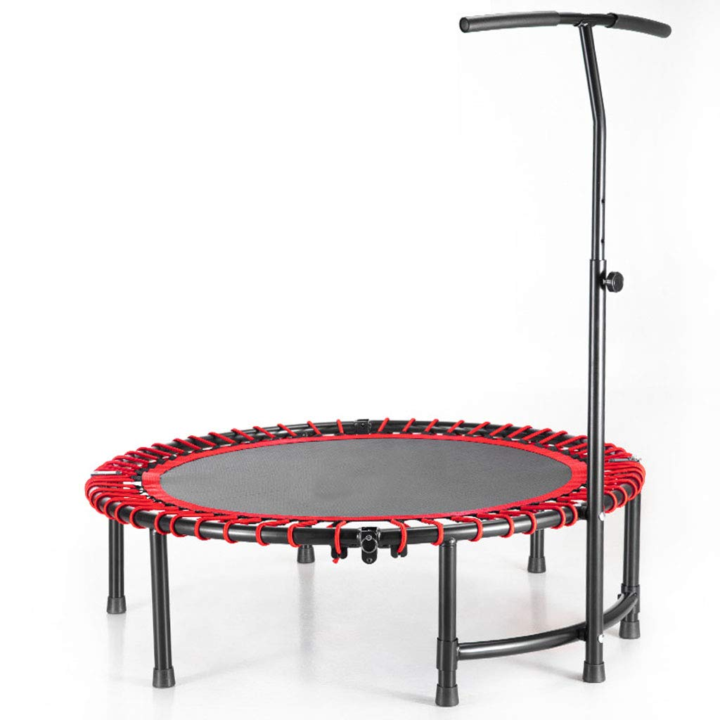 LKFSNGB Fitness Trampoline - 45 Inches - Foldable Adult Fitness Fat Reduction Trampoline for Boys and Girls Universal Leisure Trampoline with Armrests Indoor Trampoline by LKFSNGB