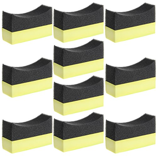 Numkuda Car Care Applicator Pad Tire Dressing Applicator Curved Foam Sponge Pad 10 Pack