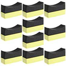 Amrka Professional Automotive Car Wheel Washer Tyre Tire Dressing Applicator Curved Foam Sponge Pad (10Pcs Car Foam Sponge Pad)