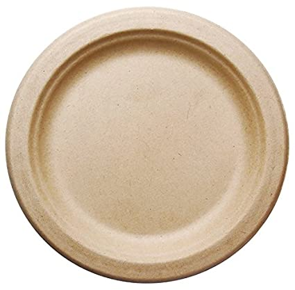 amazon com 500 count 7 in round disposable plates natural