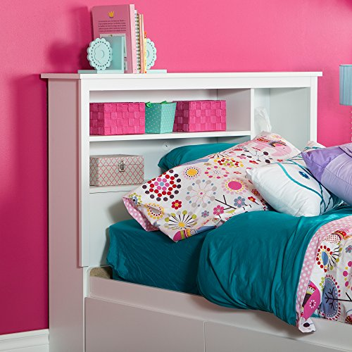 South Shore Bookcase Headboard Storage Advantages