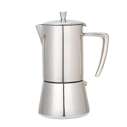 Cafetera moka de acero inoxidable, tetera moca para hacer ...