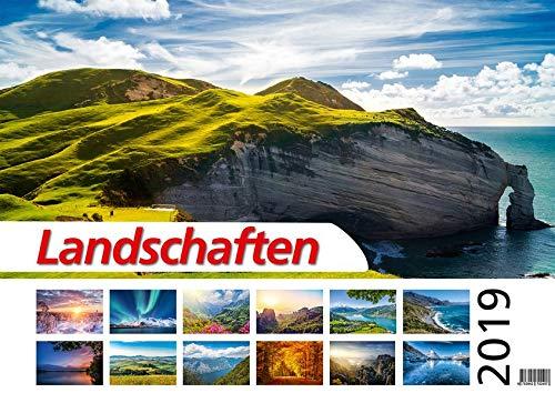 Foto-Wandkalender - Landschaften 2019 DIN A2 quer mit Feiertagen für Deutschland, Östereich und die Schweiz